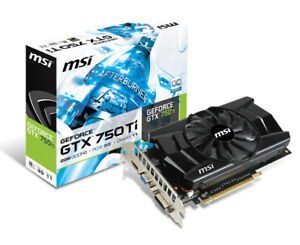 MSI GTX 750 ti  2GB GDDR5 PCI express GPU