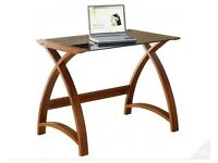 Jual Curve - Compact Walnut and Glass Desk - Like New £199 rrp