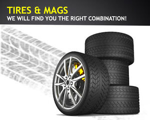 TIRES & MAGS ALL SIZES (NEW & USED) STARTING FROM 20.00$/EACH