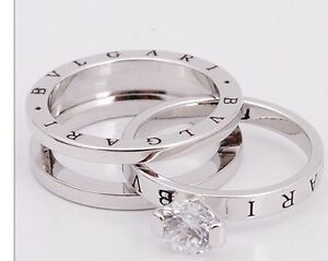 BULGARI  ENGAGEMENT RING & WEDDING BAND SET