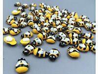 Wooden self adhesive bumble bees for craft
