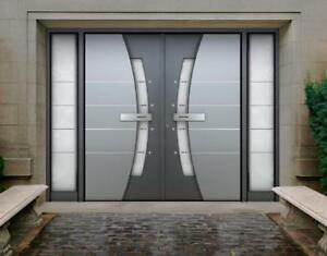 DOUBLE ENTRANCE DOORS, SIDE DOORS ENTRANCE, FIBERGLASS DOORS, MODERN DOORS REPLACEMENT & INSTALLATION - FREE ESTIMATES