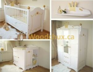 ♥‿♥ = ROYAL BABY Convertible Bed & Bedroom Set = ♥‿♥