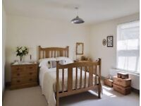 Huge, furnished double room moments from station