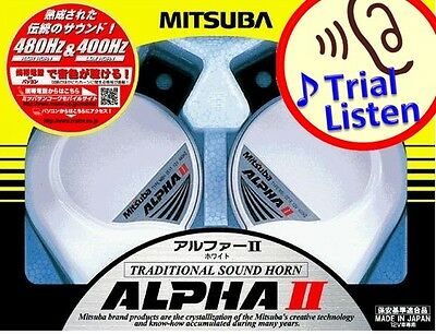 Mitsuba ALPHA II 2 WHITE HORN MBW-2E17W Car Horn made in Japan