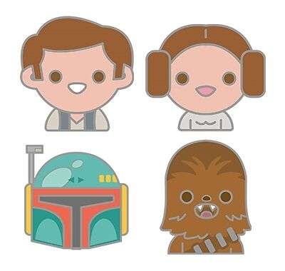 Star Wars Celebration Original Trilogy Emoji Pin Set 4-Pack