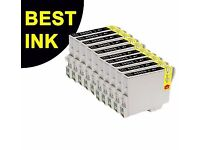 9 Black Ink Cartridge Replace for Epson DX4400 DX4450 DX5000 DX5050 D128 2