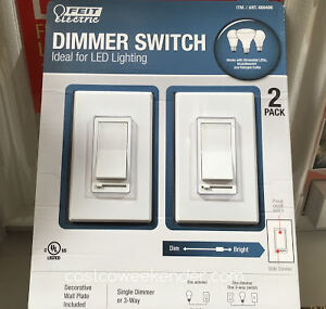 Feit Electric LED Dimmer Switch (2 pack) - slide dimmer - $18.00