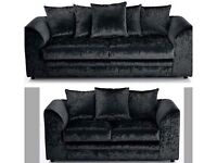 / 14 DAYS MONEY / BACK GUARANTEE / DYLAN CRUSH VELVET 3+2 / CORNER SOFA - ( BRAND NEW ) CALL NOW !!!