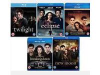 Twilight BLU-RAYS (all 5 films) NEW