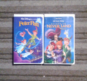 Peter Pan collections Walt Disney movies on VHS