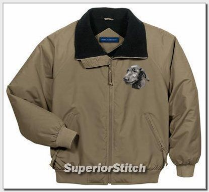 IRISH WOLFHOUND embroidered challenger jacket ANY COLOR