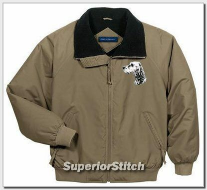 ENGLISH SETTER embroidered challenger jacket ANY COLOR