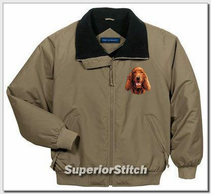 IRISH SETTER embroidered challenger jacket ANY COLOR