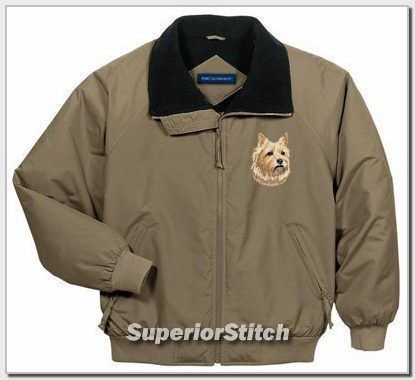 CAIRN TERRIER embroidered jacket ANY COLOR