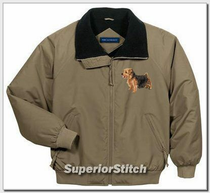 NORFOLK TERRIER embroidered challenger jacket ANY COLOR