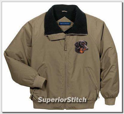 DOBERMAN  embroidered challenger jacket ANY COLOR