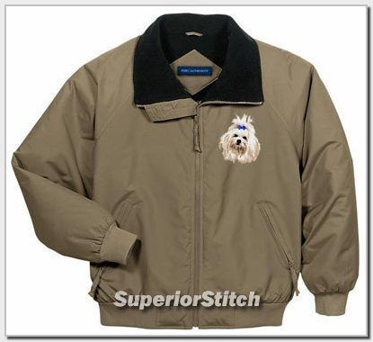 MALTESE embroidered challenger jacket ANY COLOR