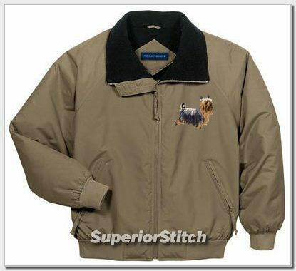 SILKY TERRIER embroidered challenger jacket ANY COLOR