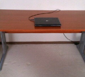 Large Maple desk with sleek grey legs - STILL AVAILABLE