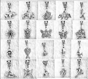 50 Tibetan Silver Charms