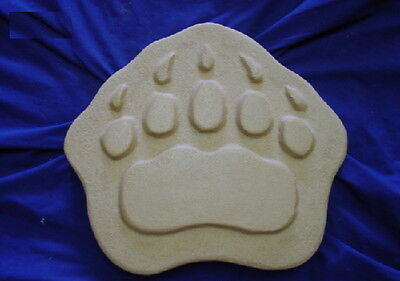 Huge Bear Paw Foot Print Footprint Concrete Plaster Stepping Stone Mold 1184