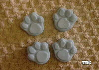 MINI DOG CAT PAW PRINT FOOTPRINT SOAP MOLD SET OF 4 -  4662 Moldcreations