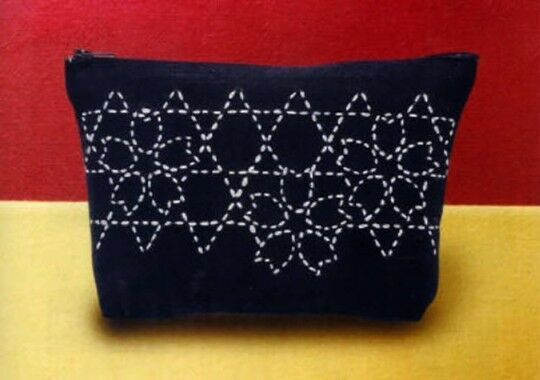 Sashiko Pouch Japanese Traditional Stitching/Quilting Kit from JAPAN