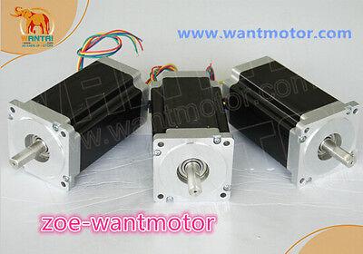 Usa Freewantai 3pcs Nema34 Stepper Motor 85bygh450d-008 1090oz 99mm 5.6a