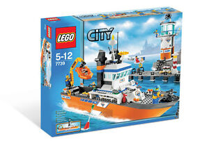 Lego City/Town: 7739 Coast Guard Patrol Boat & Tower Brand New/HTF/Sealed