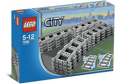 Lego City Train 7896 Straight Curved Tracks Rails Power Functions No Box   New
