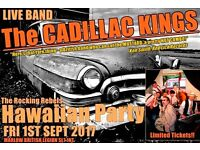 Live Band 40s/50s Hawaiian Party with The Cadillac Kings