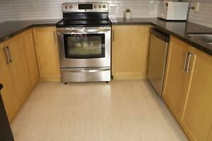 Good looking and feet savvy too, cork flooring for your kitchen.