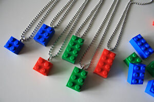 Lego Necklaces and Zipper Pulls Great for Party Favours