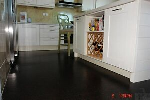 Go with cork flooring for your kitchen.