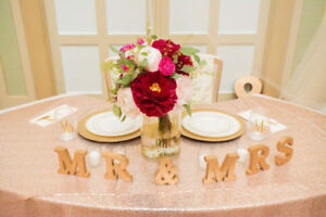 Rose Gold Table Cloth. Used Once.