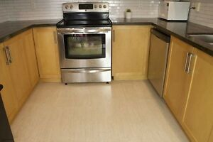 Floor your kitchen with cork flooring and work a little easier.
