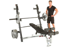 IRONMAN Triathlon X-Class Olympic Weight Bench with Detachable