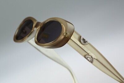 Authentic Retro Vintage Geanni Versace Medusa Oval Sunglasses.Unisex. Rare Find!