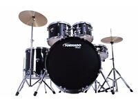 Tornado Mapex 5 piece drum kit.