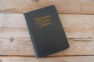 "Collectible Hymn Book--""Triumphant Service Songs"" 1934!"
