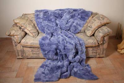 Ciel Rex Rabbit fur blanket throw bed sofa comfort home decor best gift