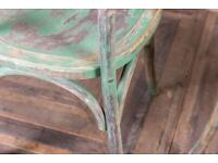 17 Distressed commercial quality restaurant chairs is mint condition