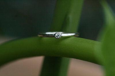 white gold engagement ring,, stacking ring White diamond 14k white Gold SJR0317