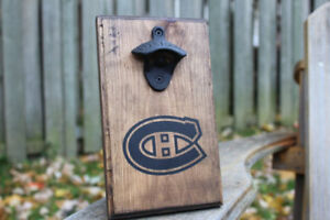 MONTREAL CANADIENS HABS WALL MOUNTED BOTTLE OPENER