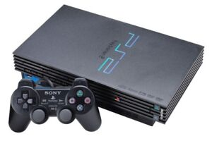 PS2 CONSOLE BUNDLE WITH 2 CONTROLLERS, 3 MEMORY CARDS & 10 GAMES