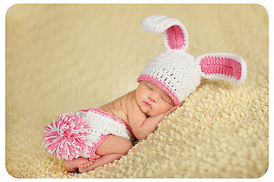 Newborn Baby Girls Boys Crochet Knit Costume Photo Photography Prop Outfits H07