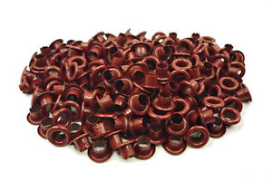 150pcs-4mm-5-32-034-Red-Brown-Round-EYELET-Scrapbooking-Crafts-Grommet-Leather-E054