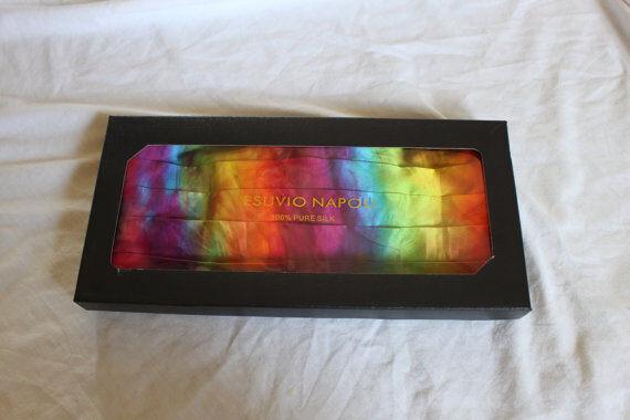 Tie dye Cummerbund formal wear rainbow