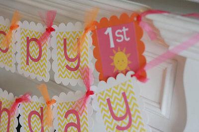 Изделия из бумаги Happy Birthday Sunshine
